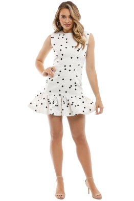 By Johnny - Confetti Gather Mini Dress - White - Front