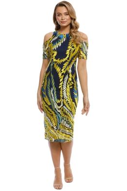 Mossman - The Humming Bird Dress - Yellow Blue - Front