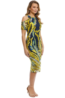 7b8ef5e448e Mossman - The Humming Bird Dress - Yellow Blue - Front