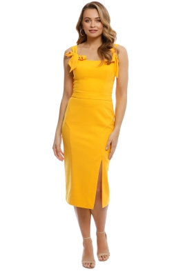 Rebecca Vallance - Havana Midi Dress - Saffron - Front