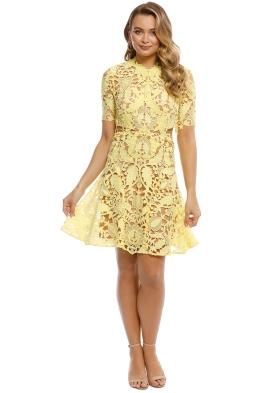 Thurley - Dandelion Mini Dress - Yellow - Front