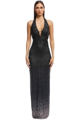 ABS by Allen Schwartz - Ombre Sequin Gown - Navy - Front