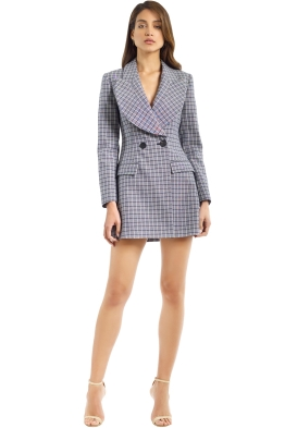Acler - Cunningham Blazer Dress - Check - Front