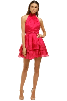 AJE-Florentine-Dress-Raspberry-Front