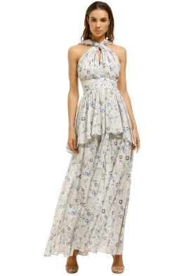 AJE-Fraser-Maxi-Dress-Powder-Wildflower-Front