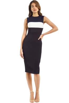 Alex Perry - Gunner Dress - Navy - Front