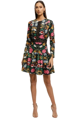 Alexia-Admor-Long-Sleeve-Lace-Knit-Trim-Floral-Print-Dress-Black-Multi-Front