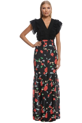 Alice McCall - Move Over Skirt - Black Floral - Front