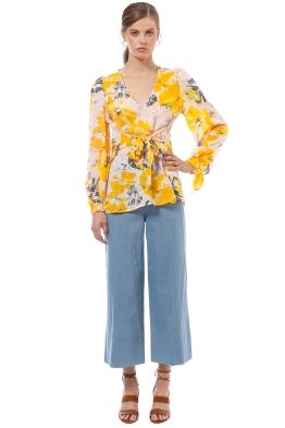 Alice McCall - Passionfruit Blouse - Saffron Floral - Front