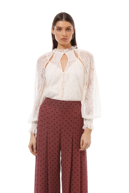 b47d86229fe Alice McCall - St Germain Blouse - Cream - Front