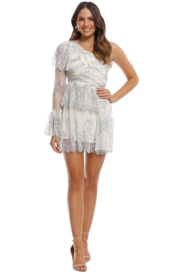 Alice McCall - Isnt She Lovely Dress - Cream Cobalt - Front