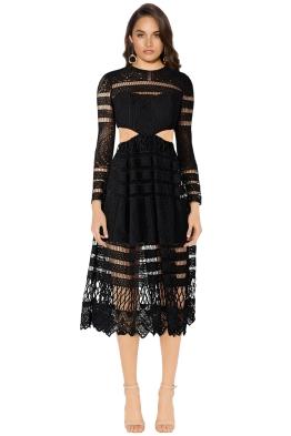 Asilio - A Cut Above Love Dress - Black - Front