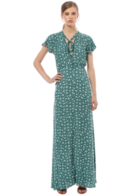 Auguste - Ava Wylde Maxi Dress - Sage - Front