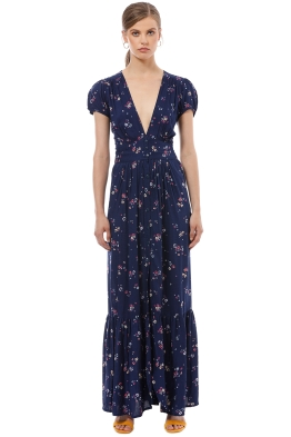 Auguste - Desert Dandelion Grace Maxi Dress - Navy - Front