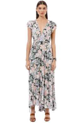 Auguste - Gardenia Goldie Wrap Maxi Dress - Floral - Front