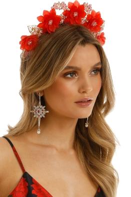 Eve Til Dawn - Frida Crown - Red - Side Model