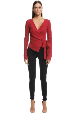 Bec and Bridge - Schiffer Wrap Top - Red - Front