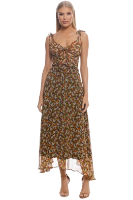 Bec and Bridge - Stevie Tie Dress - Yellow Floral - Front