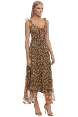 Bec and Bridge - Stevie Tie Dress - Yellow Floral - Front 7ac97dcd0