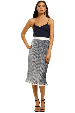 By-Johnny-Lace-Mirage-Pleat-Midi-Skirt-Navy-White-Front