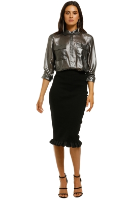 By-Johnny-Riboon-Fringe-Ribbed-Skirt-Black-Front