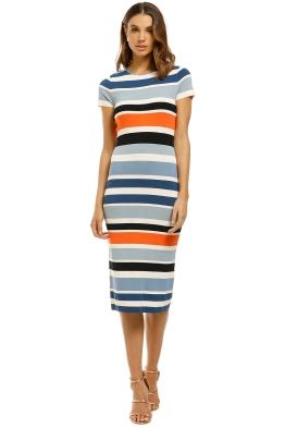 By-Johnny-Side-Line-Peplum-Tee-Dress-Multi-Stripe-Front