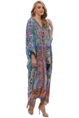 b3608968c36 Camilla - Alice in Essaouira Split Kaftan - Prints - Front