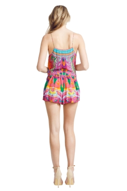 Camilla - Colour Weaving Playsuit - Front - Prints