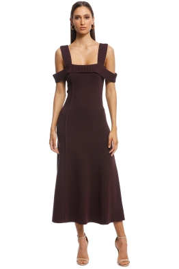 Camilla and Marc - Carole Fit and Flare Midi Dress - Burgundy - Front