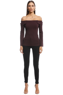 Camilla and Marc - Carole Knit Top - Burgundy - Front