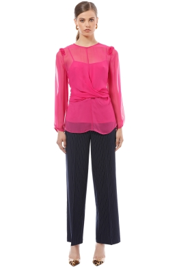 Camilla and Marc - Dylan Twist Top - Pink - Front