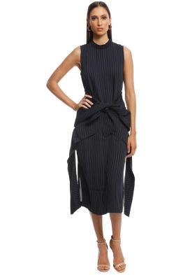 Camilla and Marc - Talon Pinstripe Dress - Navy - Front