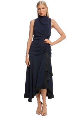 Camilla and Marc - Yolanda Dress - Navy - Front