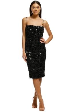 Carla Zampatti - Romance of Rome Slip Dress - Black - Front