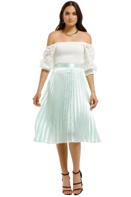 Charlie-Holiday-Juniper-Pleated-Skirt-Sea-Foam-Front