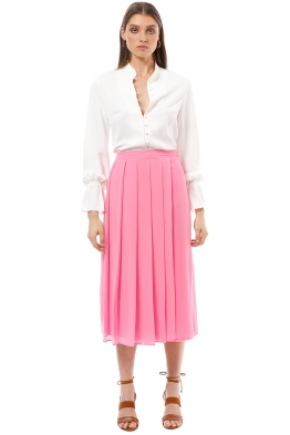 Closet London - Pleated Skirt - Pink - Front