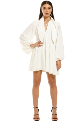 CMEO-Collective-Chapter-One-LS-Dress-White-Front
