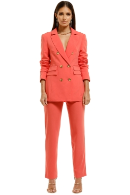 CMEO-Collective-Narrated-Blazer-and-Pant-Set-Watermelon-Front