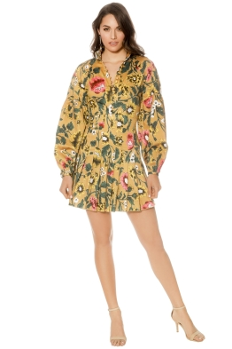 CMEO Collective - Another Lover Long Sleeve Dress - Marigold Floral - Front