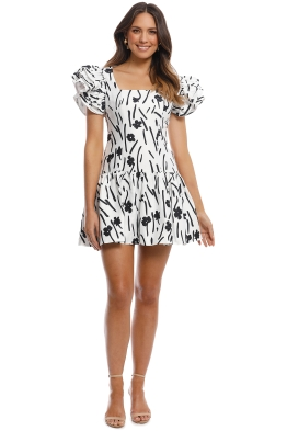 CMEO Collective - Indulgent SS Dress - Ivory Floral - Front