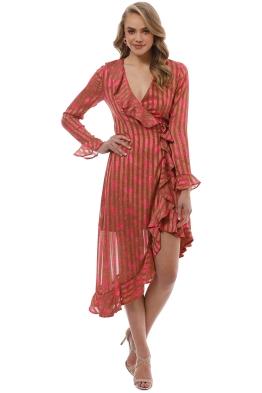 CMEO Collective - Significant Midi Dress - Copper Rose - Front
