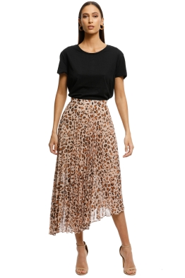 Cooper-St-Animal-Instinct-Skirt-Brown-Print-Front