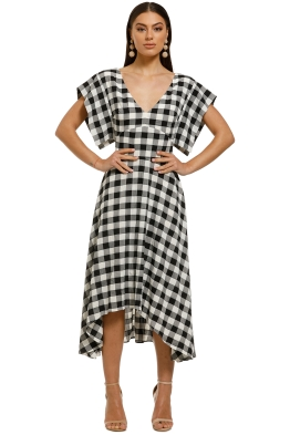 Cooper-St-Big-Love-V-Neck-Midi-Dress-Black-White-Front