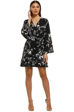 Cooper-St-Your-Own-Way-Frill-Mini-Dress-Black-Floral-Front