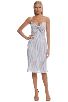 Cooper St - Bay Knot Stripe Dress - Blue Stripe - Front