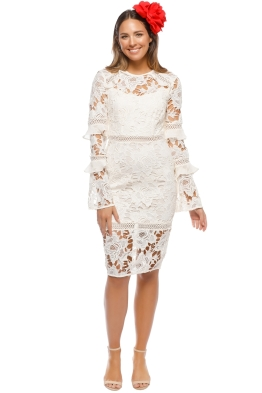 Cooper St - Lustrous Lace Long Sleeve - Ivory - Front