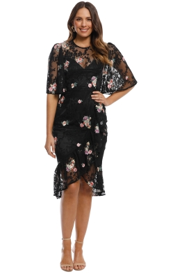 Cooper St - Myrtle Short Sleeve Lace Dress - Black - Front