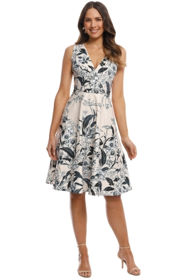 Cooper St - Vanilla Fit and Flare Dress - Cream Print - Front