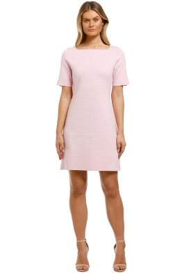 Country-Road-Compact-Knit-Short-Sleeve-Dress-Candy-Pink-Front
