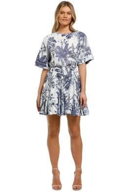 Country-Road-Godet-Print-Mini-Dress-White-Front